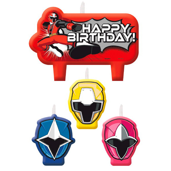 Power Ranger Ninja Steel Birthday Candle Set
