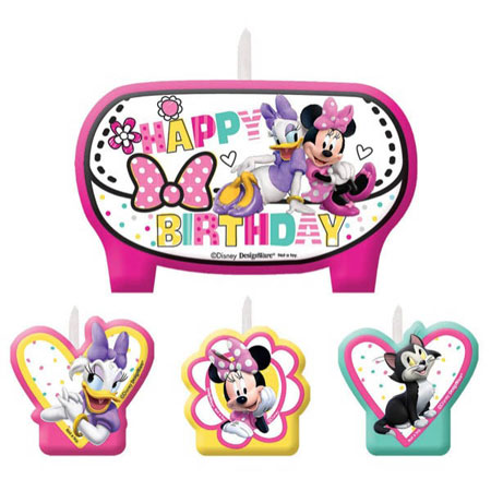 Minnie Mouse Helpers Birthday Candle Set