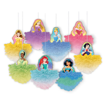 Disney Princess Deluxe Fluffy Hanging Decorations