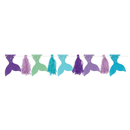Mermaid Wishes Pennant Tassel Garland