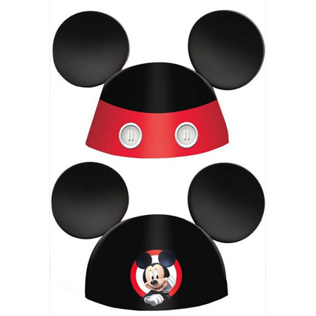 Mickey Mouse On the Go Cone Hats 8pk