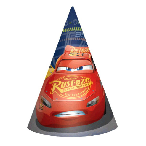 Disney Cars 3 Paper Cone Party Hats 8pk