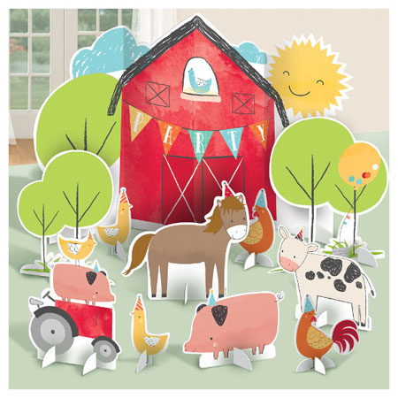 Barnyard Birthday Table Decorating Kit 11PC