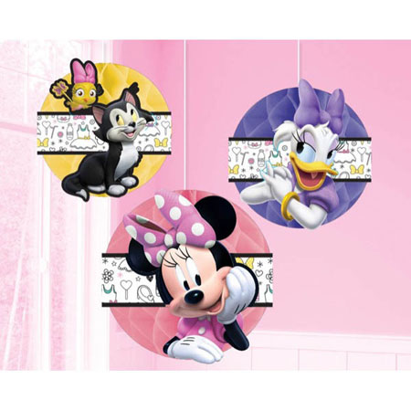 Minnie Mouse Helpers Honeycomb Decorations