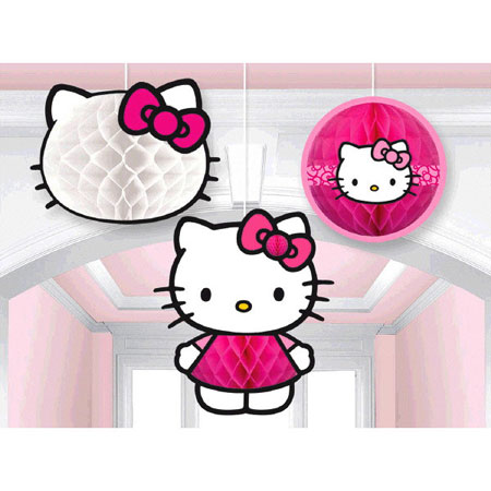 Hello Kitty Rainbow Honeycomb Decorations