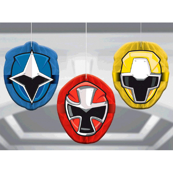 Power Ranger Ninja Steel Honeycomb Decorations