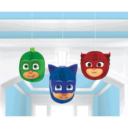 PJ Masks Honeycomb Decorations