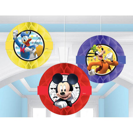 Mickey Mouse On the Go Honeycomb Decorations
