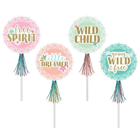 BOHO Birthday Girl Glitter Wands 8ct
