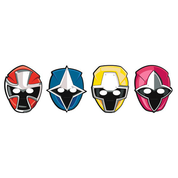Power Ranger Ninja Steel Paper Masks 6pk