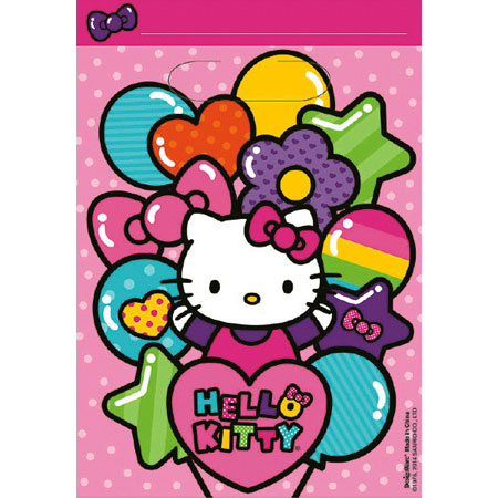 Hello Kitty Rainbow Loot Bags 8pk
