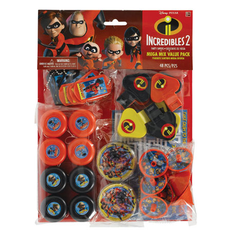 Incredibles 2 Mega Mix 48pc Party Favor Pack