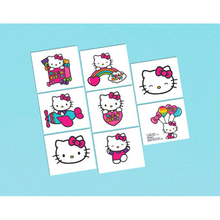 Hello Kitty Rainbow Temp Tattoos