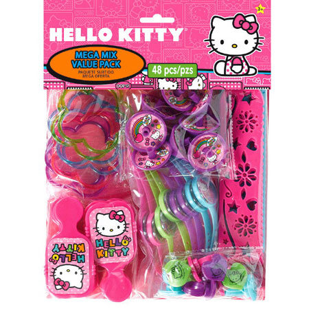 Hello Kitty Rainbow Mega Mix Party Favor Pack