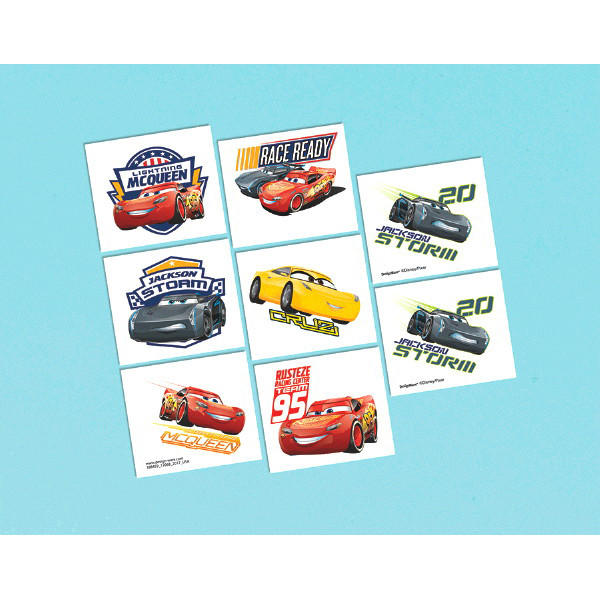 Disney Cars 3 Temporary Tattoos 16pk