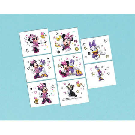 Minnie Mouse Helpers Temp Tattoos