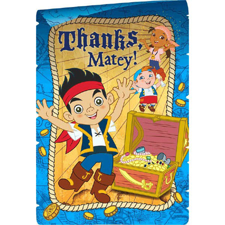 Jake & the Never Land Pirates Thank You Cards 8pk