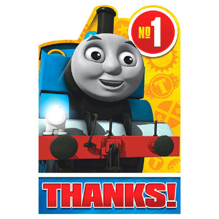 Thomas All Aboard Thank You Notes 8pk