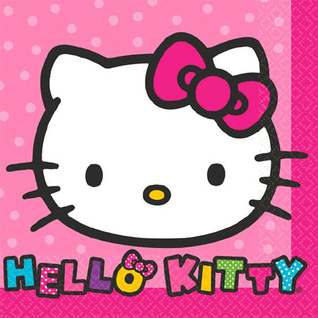 Hello Kitty Rainbow Beverage Napkins 16pk
