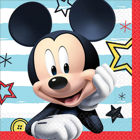 Mickey Mouse On the Go Beverage Napkins 16pk