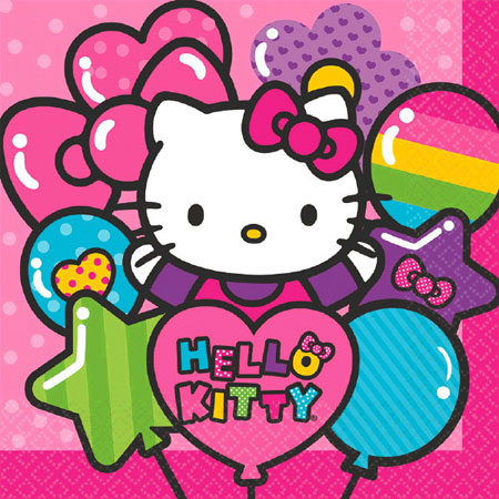 Hello Kitty Rainbow Lunch Napkins 16pk