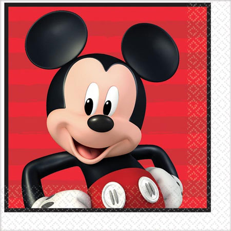 Mickey Mouse On the Go Lunch Napkins 16pk