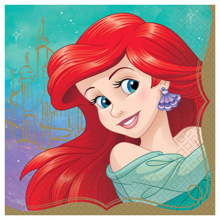 Disney Princess Ariel Lunch Napkins 16pk