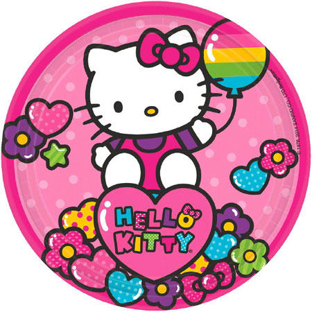 Hello Kitty Rainbow Dessert Plates 8pk
