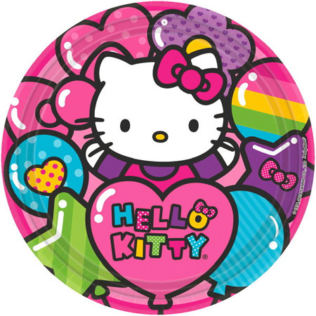 Hello Kitty Rainbow Dinner Plates 8pk