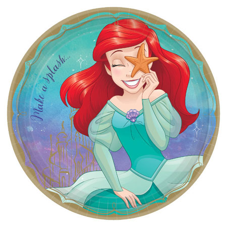 Disney Princess Ariel Dinner Plates 8pk