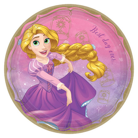 Disney Princess Rapunzel Dinner Plates 8pk