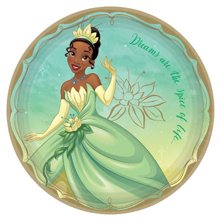 Disney Princess Tiana Dinner Plates 8pk