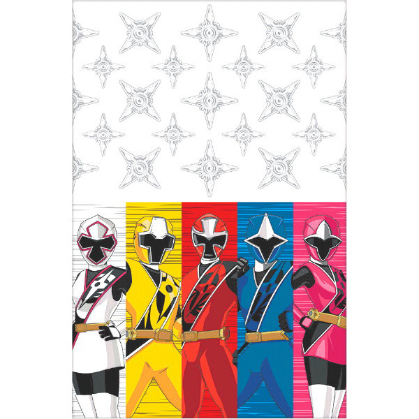 Power Ranger Ninja Steel Plastic Table Cover
