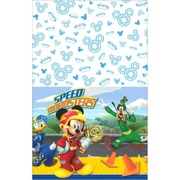 Mickey Roadster Plastic Table Cover