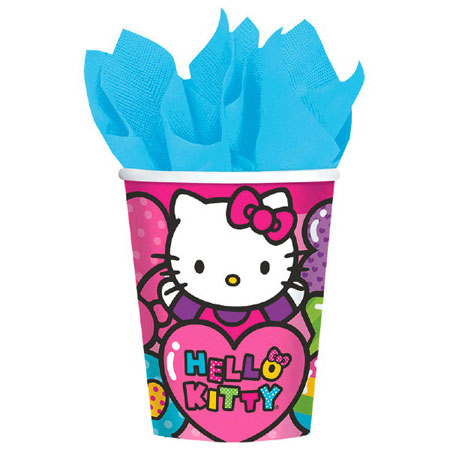 Hello Kitty Rainbow 9oz Cups 8pk