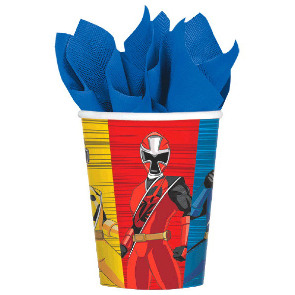Power Ranger Ninja Steel 9oz Cups 8pk