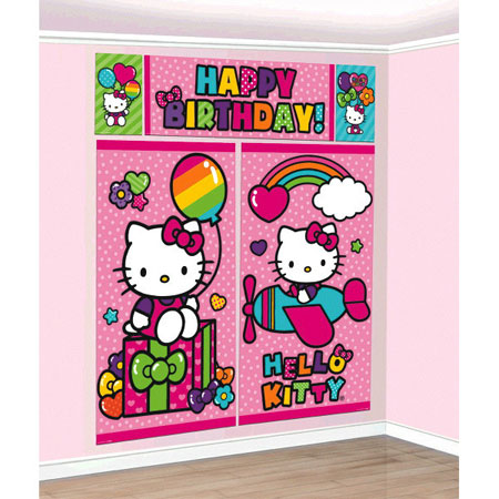 Hello Kitty Scene Setter Wall Decoration