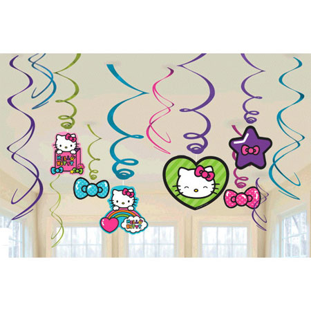 Hello Kitty Rainbow Swirl Decorations