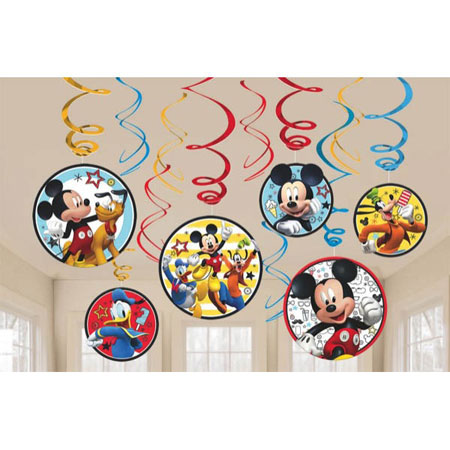 Mickey Mouse On the Go Swirl Decorations
