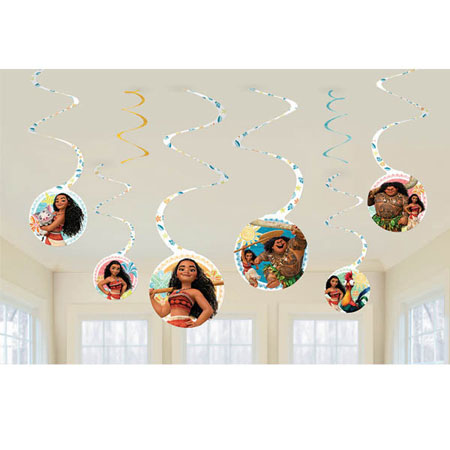 Moana Swirl Decorations
