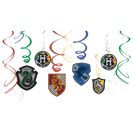 Harry Potter Hanging Swirl Decorations