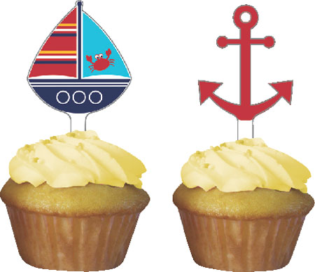 Ahoy Matey Cupcake Toppers 12pk