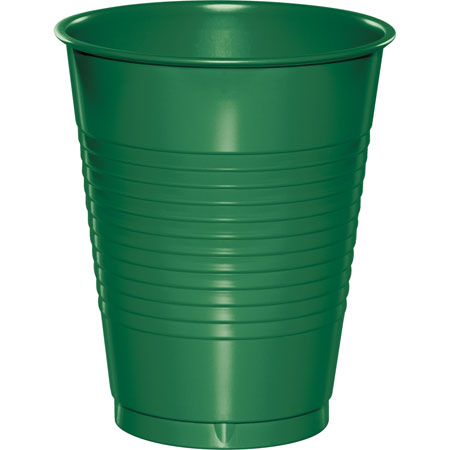 Solid Emerald Green 16oz Plastic Cups 20pk
