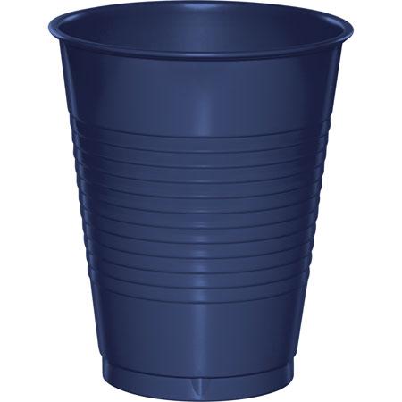 Solid Navy 16oz Plastic Cups 20pk