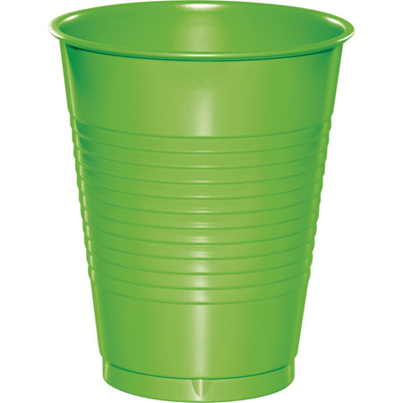 Solid Fresh Lime 16oz Plastic Cups 20pk