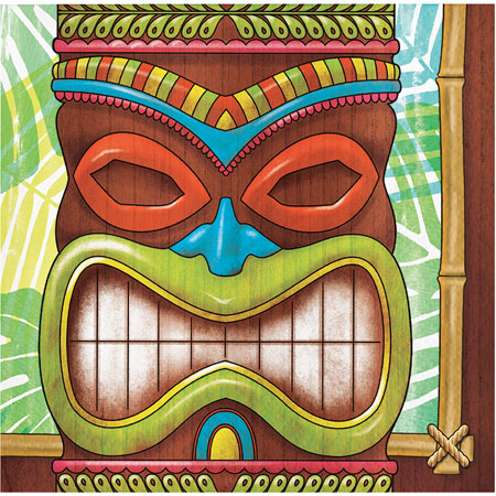 Tiki Time Beverage Napkins 100pk