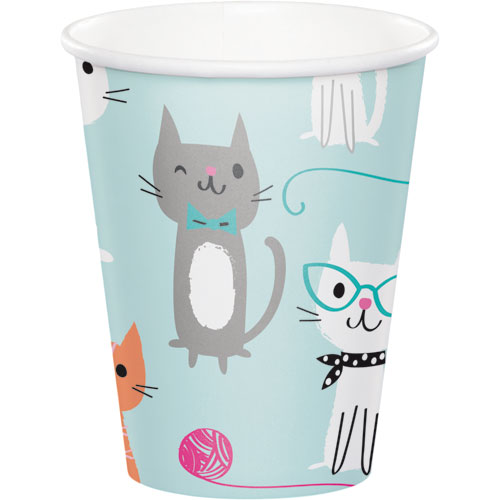 PurrFect Party 9oz Cups 8pk