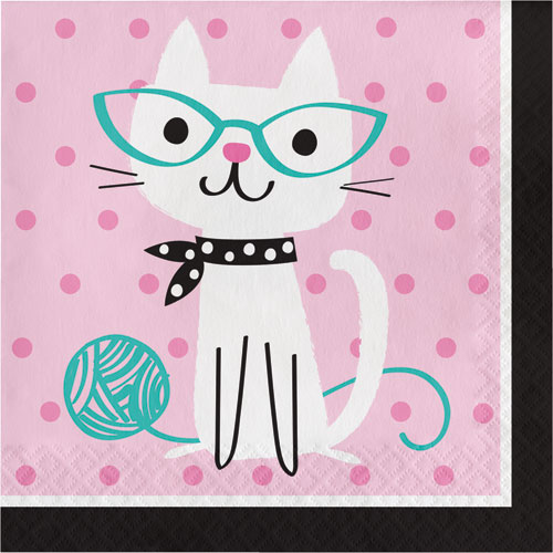 PurrFect Party Lunch Napkins 16pk