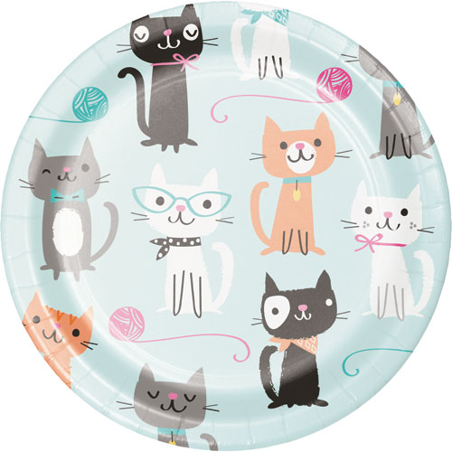 PurrFect Party Dessert Plates 8pk