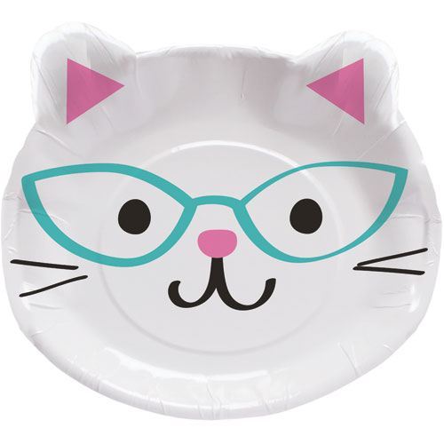PurrFect Party Shaped Dinner Plates 8pk